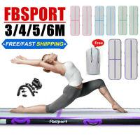 FBSPORT 3//4//5//6M 20CM Air Track Matte Turnmatte Aufblasbar Gymnastikmatte Pump