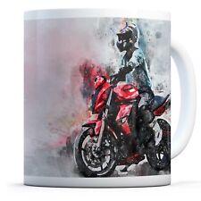 Red Motorbike Rider - Drinks Mug Cup Kitchen Birthday Office Fun Gift #12318