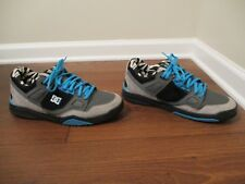 Used Worn Size 13 DC Shoes Stag 2 KB Ken Block Skateboard Shoes Black Blue Gray