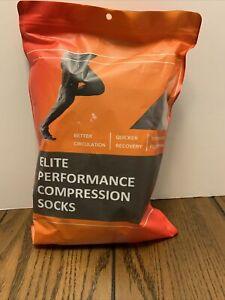 New Elite Performance Compression Socks S/M 3 Pair