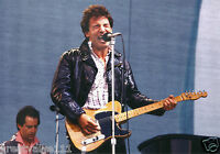BRUCE SPRINGSTEEN PHOTO 1985 UNRELEASED NEWCASTLE UK UNIQUE IMAGE 12 INCH X 8