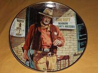 VINTAGE JOHN WAYNE AMERICAN LEGEND FRANKLIN MINT COLLECTOR PLATE LIM ED w/ COA