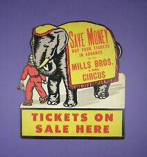 Mills Brothers 3 Ring Circus - Original c1950s Showcard - From Unused Stock