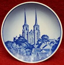 """Royal Copenhagen china Denmark Scenes plaquette Roskilde Cathedral 3-1/8"""""""