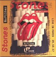 "THE ROLLING STONES ""NO FILTER - LIVE AT U ARENA PARIS"" 25.10.17 RARE DOUBLE CD !"