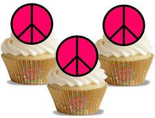Novedad Rosa CND 12 Stand Up Comestible Imagen Cake Toppers Hippy paz festival CND