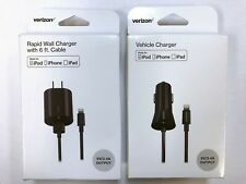 OEM Verizon Lightning Travel Rapid Wall Or Car Charger for iPhone 5 6 7 8 Plus X