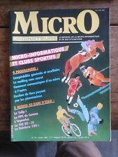 MICRO ORDINATEURS N° 18 le mensuel de la micro-informatique et de ses u