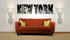 Wall Vinyl Sticker Room Decals Mural Design New York City USA Logo NY bo1304