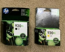 HP 920 XL Black and HP 920 XL Yellow Ink Cartridge 2 pack New