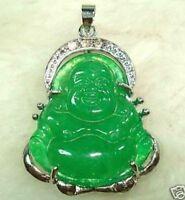CHINESE GREEN JADE BUDDHA PENDANT NECKLACE
