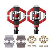 Crank Brothers Candy 7 Bike Pedals (Red) with Premium Cleats and Shoe Shields