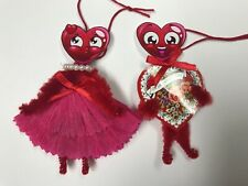 Valentine'S day ornaments, vintage feather tree ornaments, gift tag, item #23