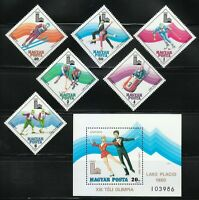 Hungary 1979 MNH Mi 3390-3395 + Block 140 Sc C410-C416 Winter Olympic Games, USA