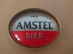 #O315 AMSTEL OVAL BAR BADGE, pub,font,tbar,mancave, beer