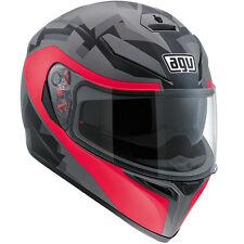 AGV K3 SV CAMO Full-Face Motorcycle Helmet (Matte Camo/Fucsia) ML (Medium-Large)