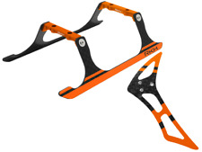 Rakon CNC Landing Gear and Tail Fin Combo (Black-Orange) - Blade 120S