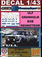 DECAL 1/43 FIAT 131 ABARTH ULF GRONHOLM 1000 LAKES 1979 (FULL) (01)