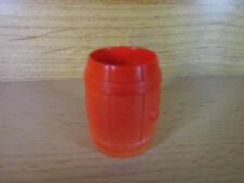 p210- Playmobil - rote Tonne / Fass , für z.B. Wasser / Wein / Schießpulver