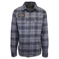 Harley-Davidson Men's Classic Grey Plaid L/S Flannel Shirt (202)