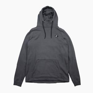 Nike Sportswear Mens Modern Pullover High Collared Hoody M Medium Hoodie Grey