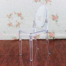 Plastic Chair Furniture Barbie Blythe Clear Transparent Dollhouse Miniature 1:6