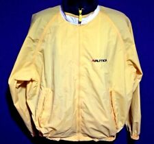 Nautica Competition Men's XL Vintage Yellow Full Zip Water Resistant Jacket