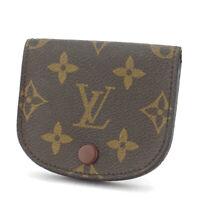 Louis Vuitton coin case Monogram beige Monogram canvas Auth used T10507