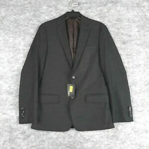 Murano Blazer Men Small Charcoal Gray Slim Fit Stretch Lined Sport Coat New