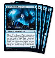 4x Overwhelmed Apprentice - Throne of Eldraine - NM - Playset - English - MTG