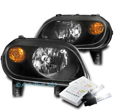 FOR 06-11 CHEVY HHR WAGON REPLACEMENT HEADLIGHTS HEADLAMPS BLACK W/8K XENON HID