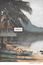 Pan Am 1957 2 Page Votre Secret Island Plus près que Pense DC-7 Pago-Pago Tahiti