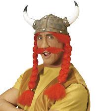 Gallia Casco con Trecce e Bart NUOVO - Carnevale Cappello Berretto Copricapo