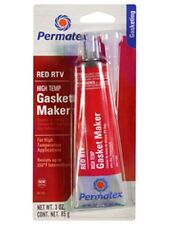 Permatex 81160 HIGH - TEMP RED RTV SILICONE 3 oz. Tube Gasket Maker Made in USA