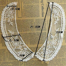 1pc Embroidered Floral DIY Neckline Lace Neck Collar Trim Sewing Applique Craft