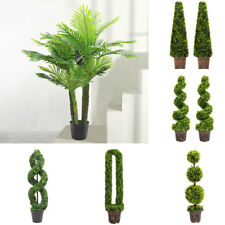 Artificial Decorative Tree Plant Potted Hallway Garden Yard Ornamental with Pot