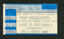 Bruce Springsteen 1988 Tunnel Of Love Concert Ticket Stub Los Angeles Ca