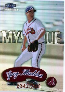 GREG MADDUX RED FOIL 1999 FLEER MYSTIQUE #158 ATLANTA BRAVES 2342/2500