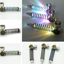 Tobacco Skull Pipe Head Flashing Smoking Lights Tube Metal Colorful Random