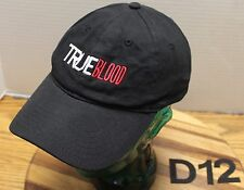 "HBO GO ""TRUE BLOOD"" HAT BLACK ADJUSTABLE EMBROIDERED VAMPIRES VERY GOOD COND D12"