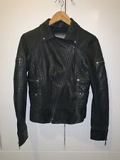 Firetrap Real leather jacket in Black UK8