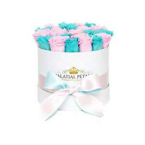 Tiffany Blue & Pink Roses That Last A Year - Classic Rose Box