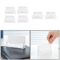 6x Klare Desktop Visitenkartenhalter Display Ständer Acryl Kunststoff