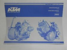 New KTM 250/300/380 SX MXC EXC Spare Parts Manual Engine 2002 PN 320865
