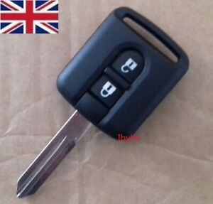 For Nissan Navara, Micra, Qashqai, Note, etc Replacement 2 button key fob
