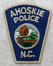 Vintage Ahoskie North Carolina Police Shoulder Patch N. C.Indian Chief