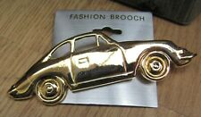 Classic car pin badge Porsche 356 Gold Metal Brooch Free postage