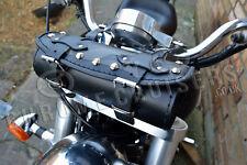 MOTORCYCLE LEATHER TOOL ROLL SADDLE BAG YAMAHA XV VIRAGO MIDNIGHT STAR DRAG STAR
