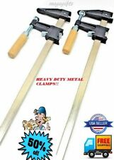 2 Heavy Duty Woodworking Carpenter Cabinets Steel Bar F Clamp Quick Release 12''