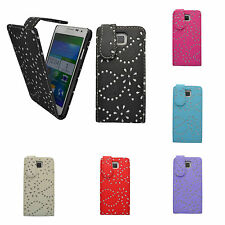 CASE FOR SAMSUNG GALAXY ALPHA GLITTER FLIP IN VARIOUS COLOURS POUCH PHONE COVER